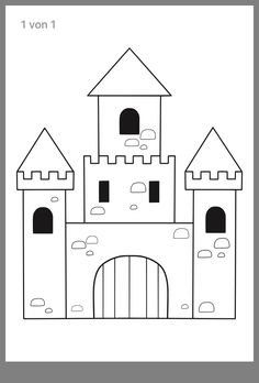 Knight& Castle craft and coloring page ▷ Print out for free - Knight& Castle coloring page / coloring page / craft template - A Level Art Sketchbook, Sketchbook Drawings, Art Sketches, Castle Coloring Page, Coloring Pages, Free Coloring, Art Drawings Beautiful, Cool Drawings, Castle Crafts
