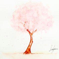 수채화, 벚나무 드로잉 - dlgusdn748 | Vingle | 팬 아트 (Fan Art), 순수 예술, 일러스트레이션