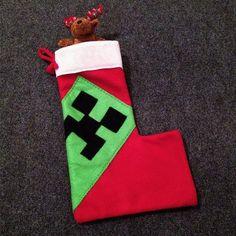 Deluxe CREEPER Christmas STOCKING MineCraft by VivaWonderWoman ...