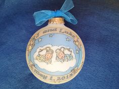 Twin Baby Boy and Girl Memorial Ornament by BarbziesCustomArts (Home & Living, Home Décor, Ornaments & Accents, Ornaments, baby memorial, memorial ornament, children memorial, child memorial, stillborn baby, miscarriage, baby loss, miscarriage memorial, pregnancy loss, stillbirth, twin miscarriage, twin memorial, boy and girl twins)