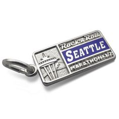 Seattle Space Needle Tour Stop Charm. Sterling Silver. Running Jewelry. Rock 'n' Roll Seattle Marathon & 1/2. $30.