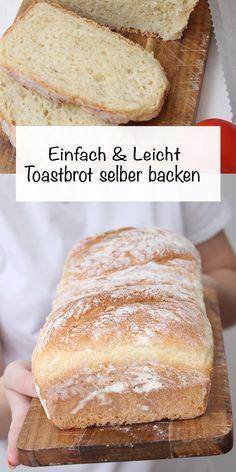 Toastbrot kann man ganz einfach selbst backen, wie ich neulich festgestellt habe. Dazu braucht man nur wenige Zutaten um ein fluffiges und leichtes Toastbrot zubekommen. Toastbrot Rezept, Brot Rezept, Brot backen, #toastbrot #sonntagsistkaffeezeit Recipe Share, Spring Recipes, Fabulous Foods, Cupcakes, Bread, Sweet, Savory Foods, Bread Baking, Dinner Rolls Recipe