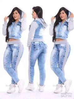calça feminina jeans com moletom agasalho moda 2016