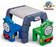 thomas the trian room | This adorable Little-Tikes Thomas the train table and chairs set has ...