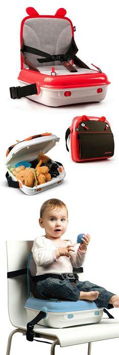 maleta que se convierte en una silla para el bebé