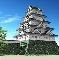 徳川大坂城 Japanese Castle, Japanese Temple, Japanese Art, Wooden Castle, China Architecture, Beautiful Scenery, Samurai, Culture, Mansions