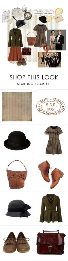 """""""Oh William_Downton Abbey"""" by whitekirin ❤ liked on Polyvore featuring BasicGrey, Catarzi 1910, November, Episode, Madewell, Frieda, Brooks Brothers, Chloé, Barbour and Steve Madden"""