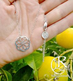 NEW Sterling Silver Flower of Life, Seed of Life, Pendant, sacred geometry…