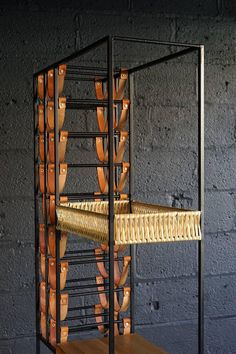 Arthur Umanoff Wine Rack | From a unique collection of antique and modern shelves at https://www.1stdibs.com/furniture/storage-case-pieces/shelves/