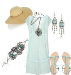 """Un paseo por la playa"" by outfits-de-moda ❤ liked on Polyvore"