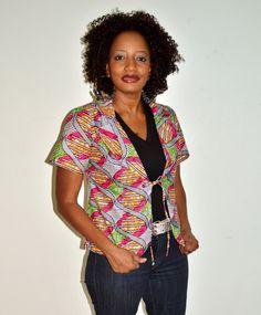 Ankara African Wax Print Jacket, Handmade Jacket, African Print Jacket