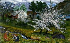 Nicolai Astrup - Apple Trees in Blossom