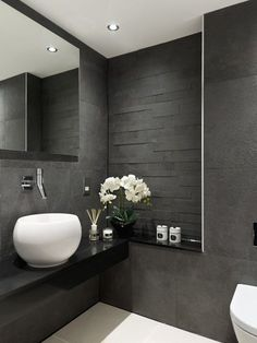 Outstanding 10 Inspirational Examples Of Gray And White Bathrooms This Largest Home Design Picture Inspirations Pitcheantrous