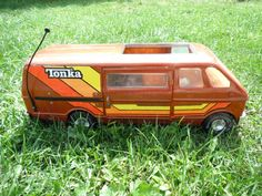 My brother had this and used to stand on it. I pushed him once with my foot because he was bugging me while I was on the phone and he fell and had to get stitches in his cheek. I felt so bad! Antique Metal, Antique Toys, Vintage Toys, Tonka Trucks, Tonka Toys, 1970s Toys, Kids Growing Up, Metal Tins, Toy Boxes