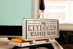 Keyboard Waffle Iron – Das Waffeleisen für echte Bürohengste