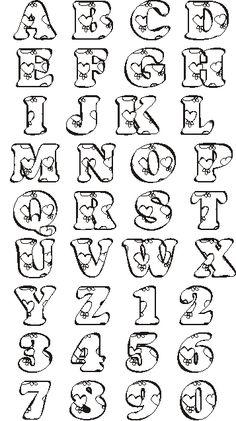 Moldes del abecedario para hacer letras en foami (2)