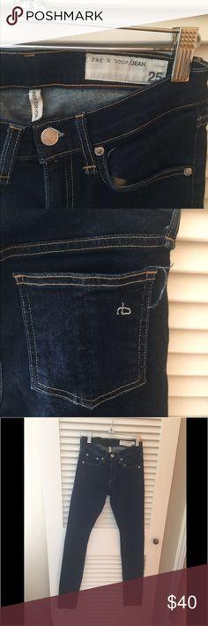 rag and bone skinny jeans Sz 25 rag and bone jeans dark blue high rise skinny Sz 25 rag & bone Jeans Skinny