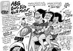 MICE CARTOON - ABG BARU BISA NAIK MOTOR - Karya: Muhammad Misrad - Sumber: Kompas Minggu - 18 Maret 2012 (KLIK gambar untuk memperbesar)