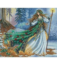 Dimensions Gold Collection Counted Cross Stitch Woodland Enchantress, , hi-res
