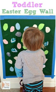 Make an Easter Egg Wall: Spring Activity for Toddlers. Easy and fun activity to entertain toddlers & celebrate Easter!