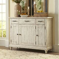 Store your extra dinnerware, flatware, and table linens in a buffet table or sideboard. Shop our great selection of stylish buffet tables and sideboards. Furniture Sale, Home Decor Furniture, Dining Room Furniture, Furniture Making, Home Furnishings, Furniture Ideas, Furniture Boutique, Family Furniture, Painted Furniture