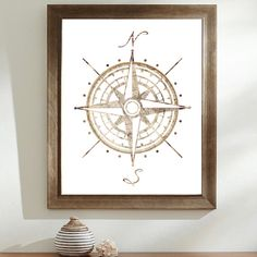 Compass Rose Map Illustration  Compass Old Map  by WestridgeART, $30.00