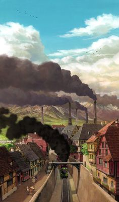 From Studio Ghibi's How's Moving Castle.