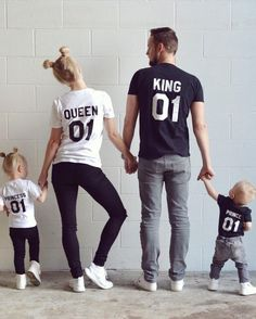 These are actually too cute. Matching family tshirts! Could make great pjs? #familyphotography