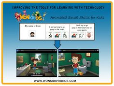 Teaching children important skills through a fun cartoon that children want to watch and don't realize they are learning!     www.wonkidovideos.com