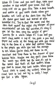 love love love this and the fact that I find myself reading it at 4 am having been up all night Makes this that much more perfect