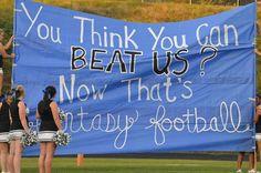 Football banner idea!