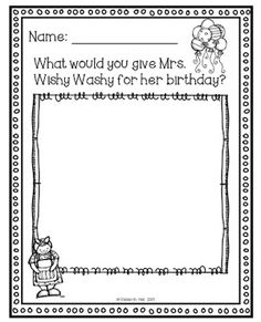 Mrs. Wishy-Washy for Shared Reading—with a FREE Worksheet Download!