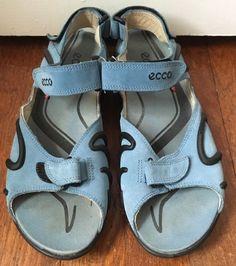 blue ecco sandals