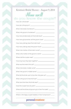 Here Are Some Fun Bridal Shower Games That Sure To Get The Guests Laughing