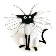 Silly Cat / Felting wool / Staffed Toy by PuntikvaStore on Etsy