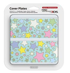 NEW Nintendo 3DS Kisekae Cover plates No.064 Clolorful Star Airmail from Japan #Nintendo