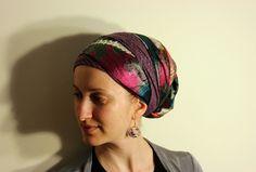 Wrapunzel Sari Scarf with Israeli Tichel and Sequin Headband
