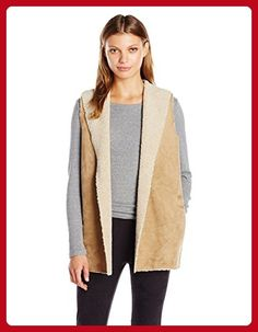 VELVET BY GRAHAM & SPENCER Women's Lux Faux Sherpa Reversible Vest, Camel, M - All about women (*Amazon Partner-Link)