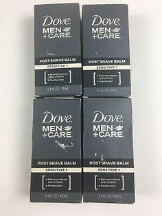 4x Dove Men  Care Post Shave Balm Sensitive 3.4 oz ea Relieves... Dove Men Care, Shaved Hair, Deodorant, Ea, Shaving, The Balm, Razored Hair, Close Shave