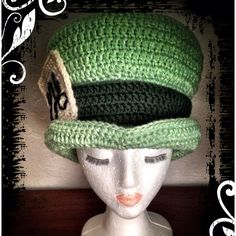 Disney Alice in Wonderland Mad Hatter styled Crochet Hat