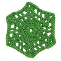 $1.99 - August Hexagon Motif - A Crochet pattern from jpfun.com