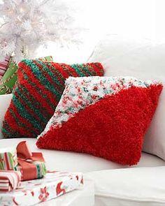 Free Christmas Crochet/Knit Afghan, Pillow, Tree Skirt Patterns on Pinterest ...