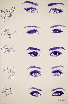 fun eyes celebs, drawings