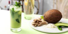 Coconut Cucumber Ginger Mojito