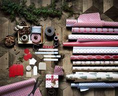 IKEA wrapping paper and ribbon for the holiday season