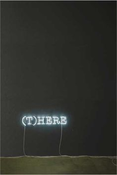 (T)HERE | Melik Ohanian | Word(s), 2006