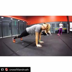 Look! I'm in a Video Doing Push-Ups! Haha!  #strongnotskinny #pushups #girlscandopushupstoo #realpushups  # #Repost @crossfitlandrush with @repostapp.  It's push-up month at CrossFit LandRush! Take a few mins each time you come in to work on getting better at push-ups. Focus on 2 key things. 1. Keeping the hips off of the floor. Demonstrated by Brandi in the video. This helps build core strength to keep the body stable. 2. keeping the elbows tucked in. Demonstrated by Az. Imagine pushing the…
