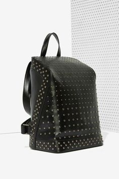 Black Out Studded Backpack//