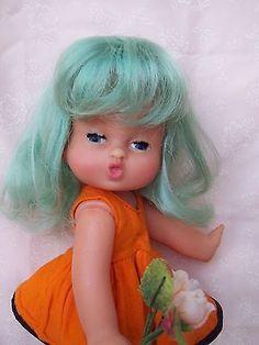 Bambola vintage Migliorati, anni '60, vinile Birichina