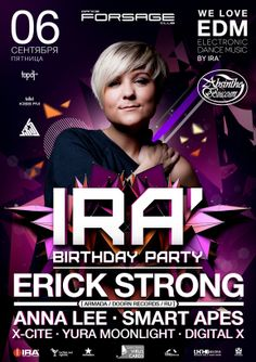 DJ IRA' birthday party poster design